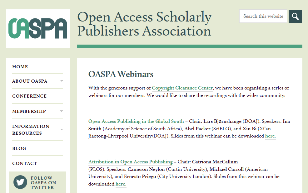 Open Access Publishing in the Global South in Video and PPT